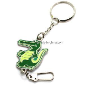 Caisson de vendre à chaud de la forme de chaîne de clé en métal avec Soft Enemal