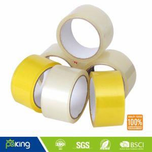 BOPP Cinta adhesiva de color amarillento con fuerte adherencia