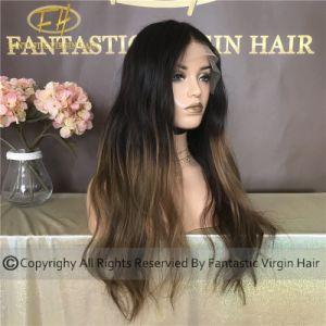 10A Grade chinois Virgin/Remy Cheveux humains plein/Dentelle Frontale perruque Solon de compétences de couleur