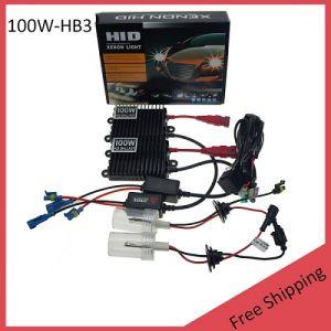 100W AC HID Xenon Bulbs Kit Hb3 6000k