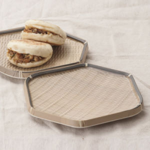 La mélamine armure hexagonal Plaque pour la cuisine traditionnelle (BJ13833-12)