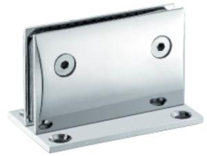 Conexão do banho de chuveiro em vidro dobradiça de porta