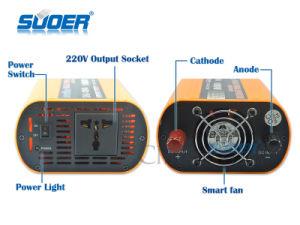 Inversor de potência do carro Suoer 1000W Inversor de Energia Solar 12V para 220V pequeno Inversor de Potência Automática com preço de fábrica (SKA-1000A)