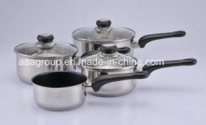 4pcs de acero inoxidable utensilios de cocina con mango de baquelita