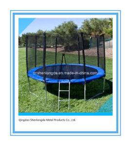 10FT runde blaue Trampoline mit PET Netz-Gehäuse