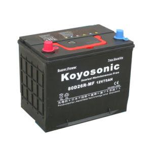 12V 90Ah batería del coche Batería de plomo ácido Mf de cartón de color