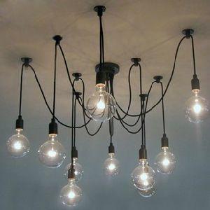 Edison l mpara de techo l mparas de ara a moderna l mpara - Lamparas arana modernas ...
