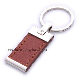 PU 가죽 승진 주문 로고 환영 금속 열쇠 고리 (BK20940A)