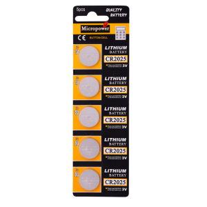 Uhr-Batterie-Lithium-Batterie Cr2025 3V