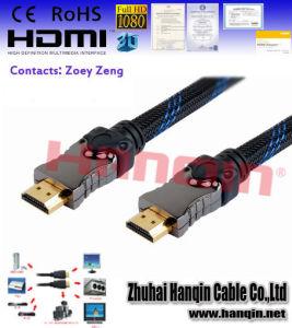 Dünnes HDMI Hochgeschwindigkeitskabel mit Ethernet 3D und 1080P für PS3, DVD HDTV