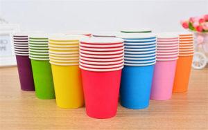 10pcs couleur pure partie gobelets en papier jetables de tasse de jus de décoration de bricolage pour enfants avec douche bébé Anniversaire de mariage d'alimentation de la vaisselle de table de pique-nique