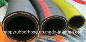Trançado têxteis industriais a mangueira de ar de borracha de alta pressão e a mangueira de água