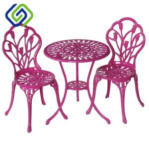 Silla de jardín de aluminio de fundición de hierro al aire libre muebles de exterior