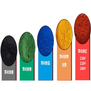 Pigmento inorgánico el óxido de hierro negro