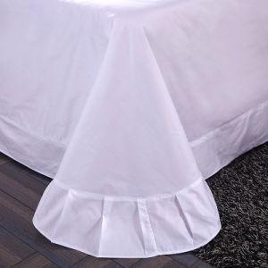 Blanco de algodón orgánico Hotel baratos ropa de cama