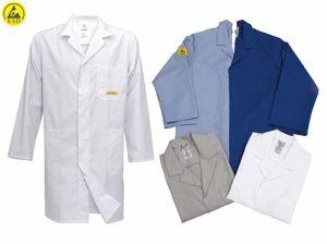 ESD 청정실은 의류 ESD 의복을 입는다