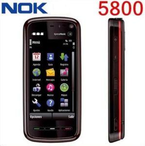 Desbloqueado para Nokia 5800 GSM teléfono móvil Cámara 3.2MP WCDMA WiFi GPS 3G
