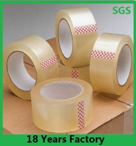 カートンのシーリングのための高品質のCutsom BOPPの透明なカラー透過付着力の包装テープ