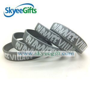 Colore Printed Promotional Silicone Bracelet per Gift