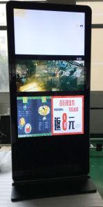 65 pouces de la béquille de support de panneau à LED couleur intérieure Network Advertising Media Player Vidéo, écran LCD Affichage de signalisation numérique