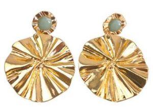 2019의 도매 형식 디자인 금속 금 파 디스크 귀걸이 보석