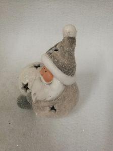 De mooie Kerstman en Heldere Sneeuwballen voor Verkoop