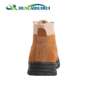 Brown Puntera de acero Wear-Resistant Zapatos de seguridad