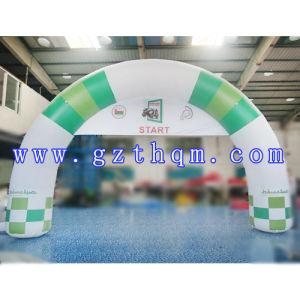 膨脹可能な広告のアーチ魅力的な0.6mmの厚さPVC防水シートの膨脹可能なアーチ