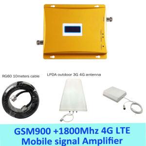 Volles Set LCD-Bildschirmanzeige! Des hoher Gewinn-Doppelbandsignal-4G Signal-Verstärker-Verstärker-Doppelt-Signal-Stab Zusatzinstallationssatz G-/M900 4G Lte 1800