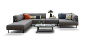 Новый дизайн моды Big L форма вид в разрезе ткань диван