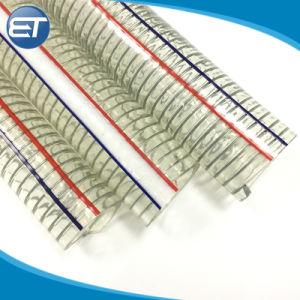 高圧PVC螺線形紫外線化学抵抗力があるのワイヤーによって補強される吸引のホース
