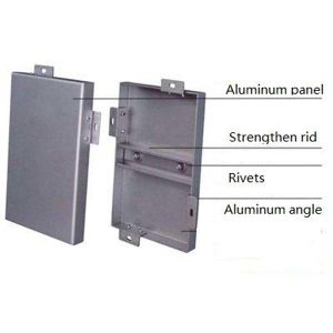 Green Building matériau aluminium panneau mural pour système de façade