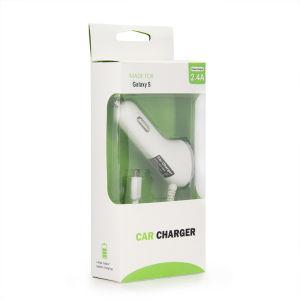 5V 2.4A USB Cargador de coche con el cable para el iPhone Samsung