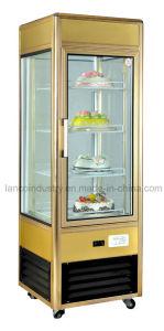 Bolo de exibição comercial de alta qualidade frigorífico para o Café Pizza