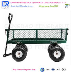 Heißer Verkauf drücken der 4 Rad-Garten-Lastwagen-Hilfsmittel-Karre von Hand ein (TC4211)
