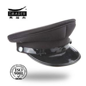 Estilo Simples Preto personalizado Comandante Militar Gunnery Sergeant Hat