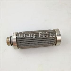De roestvrij staal geplooide filter van de het netwerkpatroon van de filterdraad