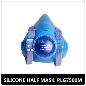 La máscara de gas de silicona respirador (PLG 7500)