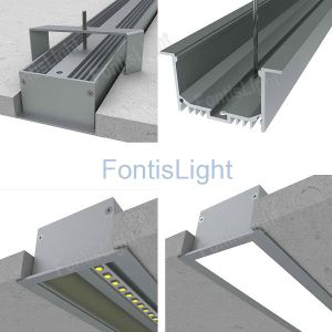 Grande Recessed Aluminum LED Profile per il LED Strip Alp045