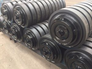 Roletes da Esteira Transportadora de impacto revestido de borracha para o transportador de carvão