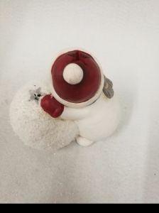 De hoge Uitstekende Ceramische Sneeuwman van Kerstmis met LEIDEN Licht