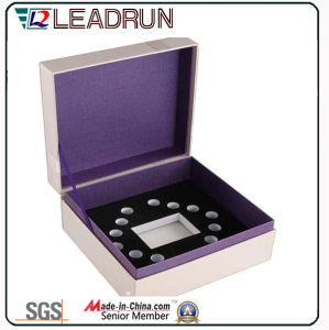 Contenitore di regalo di cuoio dell'imballaggio del gemello del braccialetto del presente del ricordo della casella di memoria dei monili del velluto (YSP134)