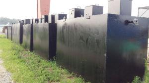 Pianta in sotterraneo dell'unità Integrated di trattamento di acque luride