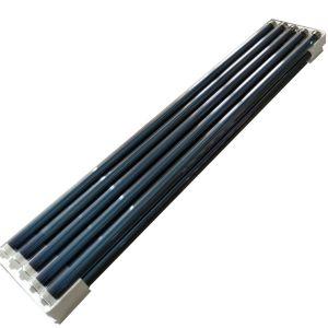 真空管のソーラーコレクタ(熱パネルの太陽給湯装置)