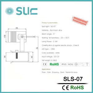 LEDの景色の照明(SLS-07)のための小型点ライト