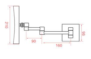 공장 목욕탕 LED 미러 5019 LED 메이크업 미러를 면도하는 가벼운 장식용 미러 (5019) LED 빛