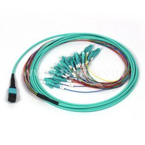 単一モードのマルチモード12/24のコアMPO/MTP光ファイバトランクケーブル