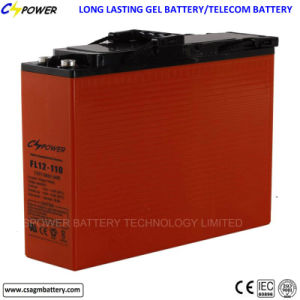 電気通信FL12-100ahのための前部ターミナルゲルの二次電池