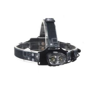 2018 Nuevo 2t6 de alta potencia LED LED Rechargeble Micro USB de la luz de faro
