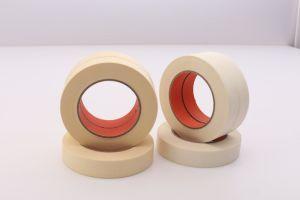 Adhesivo de caucho natural cinta de enmascarar de papel crepé